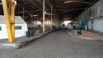 Bira, the hangar-like refugee camp in Bihac, Bosnia.