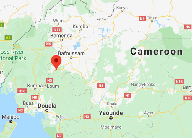 Kekem, Cameroon, is near the Nigeria border north of Douala. (Map courtesy of Google Maps)