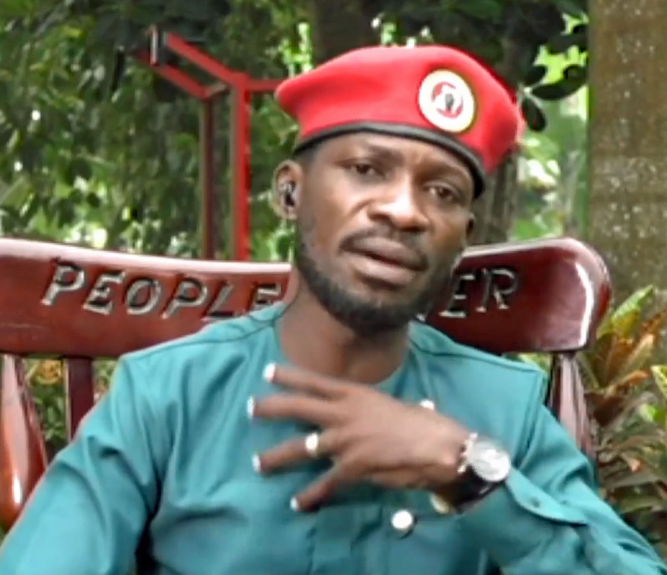 Presidential candidate Bobi Wine (Photo courtesy of NBS Television)