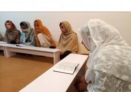 Trans students in class at Pakistan's first trans-only madrasa in Islamabad, Pakistan's capital. [Salahuddin photo courtesy of Reuters/Al Jazeera)