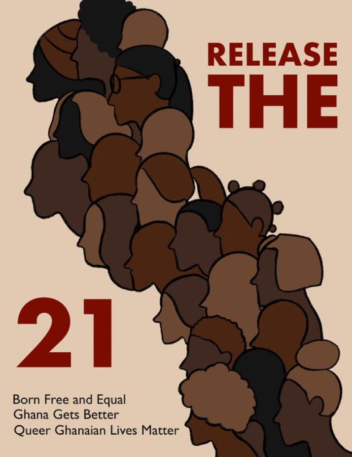 Local activists seek the release of 21 people arrested in Ghana during a human rights training program on May 20. #ReleaseAllThe21