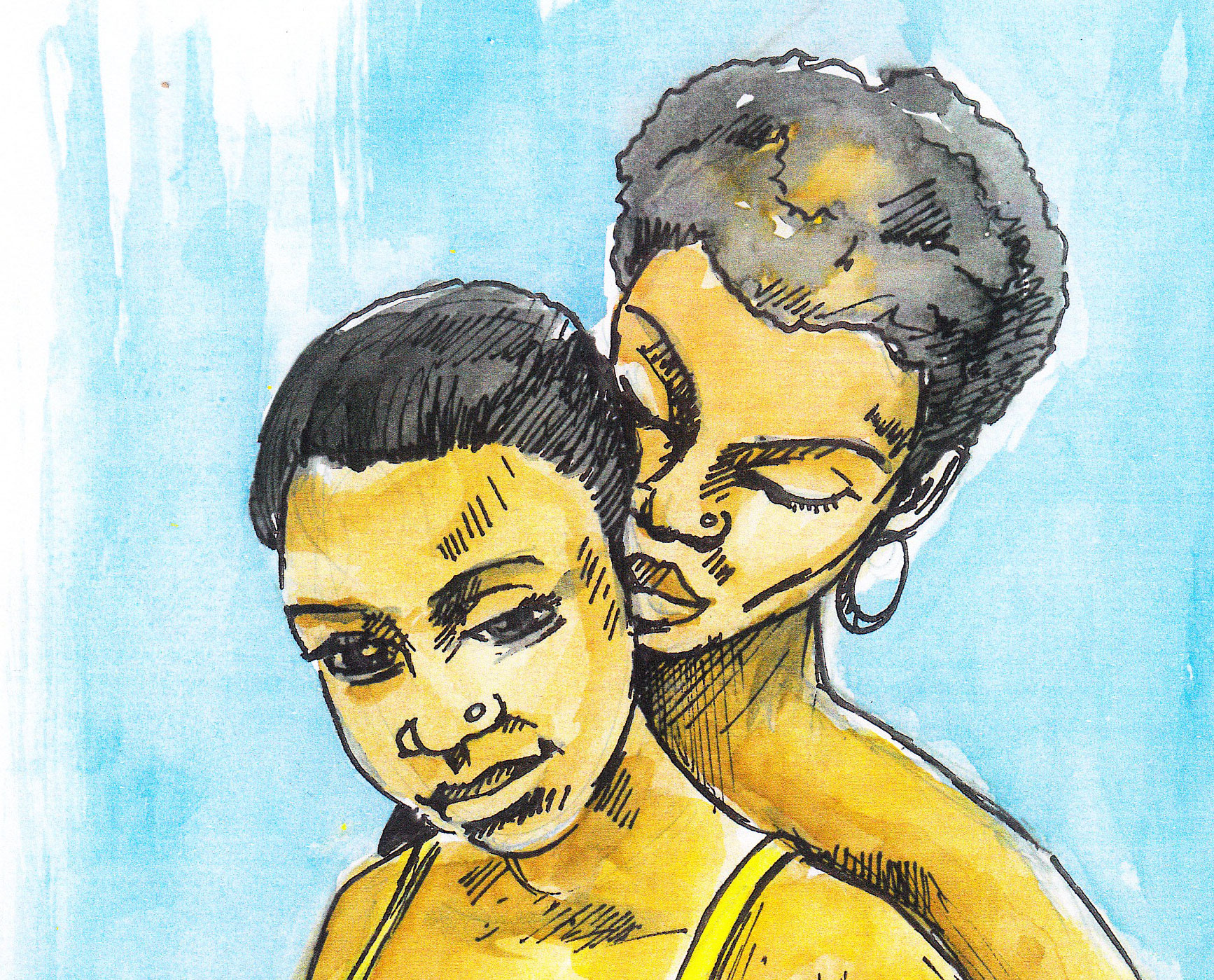 CLICK IMAGE TO DONATE TO FREE 11 LGBT PRISONERS IN CAMEROON. Illustration by Vincent Kyabayinze, East Africa Visual Artists (EAVA Artists)